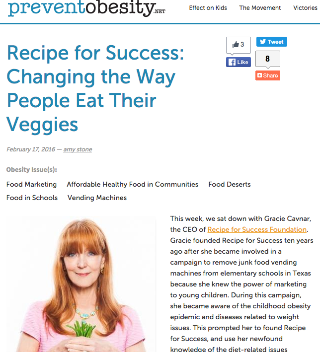 Recipe for Success: Changing the Way People Eat Their Veggies