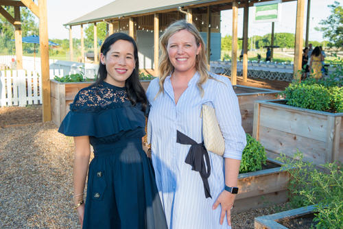 Thumbnail image for Stephanie Pai-Fleck and Melissa Sugulas pose in the Chefs' Kitchen Garden.jpg