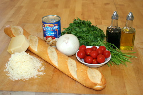 Artichoke heart bruschetta-Ingredients.jpg
