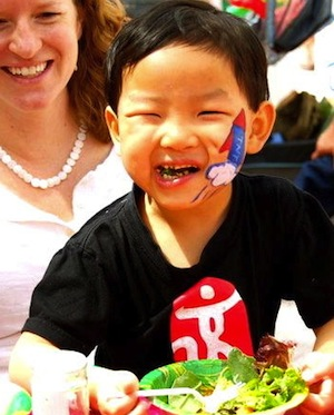 Happy salad eating kid.jpg
