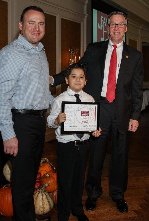 Chef Neil Cox, Ivan Marquez, City Councilman Steve Costello.jpg