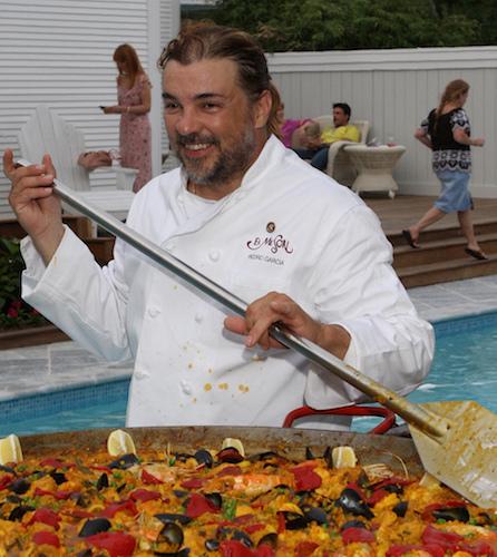 Chef Peter Garcia cooks paella_2009 Small Bites For BLOG.jpeg