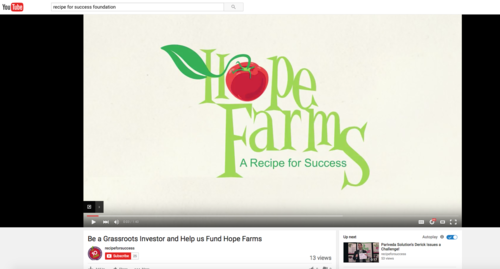 Hope Farms YouTube Link