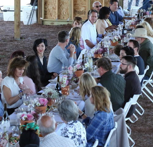 Thumbnail image for A birdseye view of the communal table at Chefs in the Field.JPG